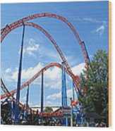Hershey Park - Storm Runner Roller Coaster - 12125 Wood Print by DC Photographer