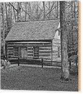 Hesler Log Home 10234b Wood Print