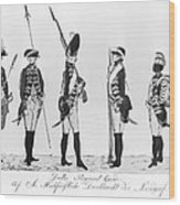 Hessian Soldiers Wood Print