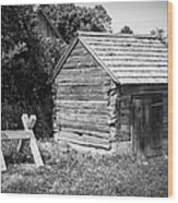 Hetchler House Shed Wood Print
