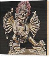 Hevajra. 18th C. Buddhist Tantric Wood Print
