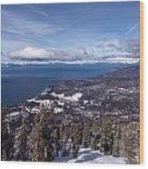 Hevenly Ski Resort In South Lake Tahoe Wood Print