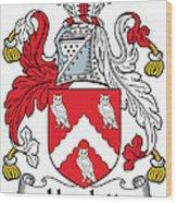 Hewlett Coat Of Arms Irish Wood Print