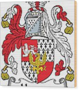 Hewson Coat Of Arms Irish Wood Print