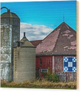 Hexagon Quilt Barn Wood Print