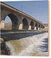 Hexham Bridge And Weir Wood Print