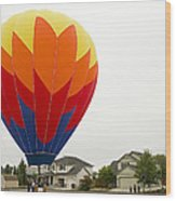 Hey Mom There Is A Big Balloon In Our Driveway Wood Print