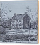 Hezekiah Alexander House Etching Wood Print