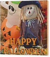 Feel Good Happy Halloween Wood Print