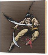 Hhu'manni Warrior Wood Print