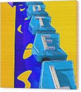 Hi-lander Motel Wood Print by Gail Lawnicki