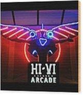 Hi-vi Arcade Wood Print