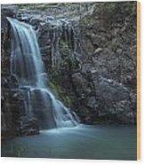 Hiawatha Falls Wood Print by Aaron Bedell