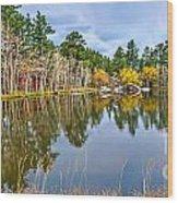 Hiawatha Lake Panorama Wood Print