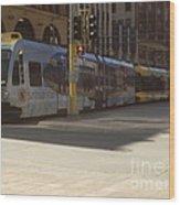 Hiawatha Line Light Rail Wood Print