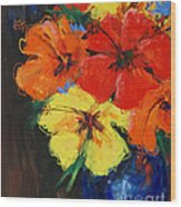 Hibiscus Colours Wood Print