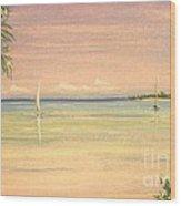 Hibiscus Cove Wood Print by The Beach  Dreamer