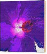 Hibiscus - Flower - Ile De La Reunion - Reunin Island Wood Print