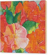 Hibiscus Flowers Wood Print by Michelle Wiarda