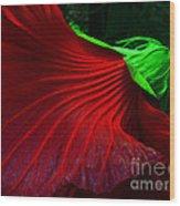 Hibiscus Red Wood Print