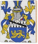 Hickey Coat Of Arms Irish Wood Print