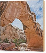 Hickman Bridge Natural Arch Wood Print