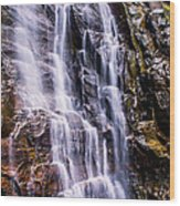 Hickory Nut Falls Wood Print