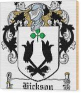 Hickson Coat Of Arms I Kerry Ireland Wood Print