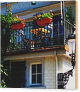 Hidden Away Balcony Wood Print