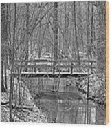 Hidden Bridge Wood Print