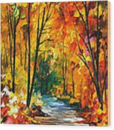 Hidden Emotions - Palette Knife Oil Painting On Canvas By Leonid Afremov Wood Print