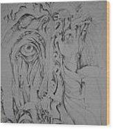 Hidden Faces Wood Print by Moshfegh Rakhsha