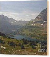Hidden Lake - Glacier Wood Print