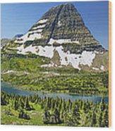 Hidden Lake In Glacier National Park Wood Print