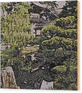 Hidden Pagoda Wood Print