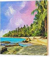 Hidden Paradise Wood Print