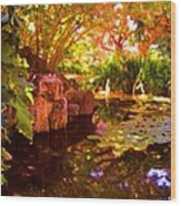 Hidden Pond Wood Print