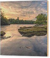 Hidden River Wood Print