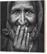 Hidden Smile Wood Print