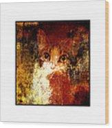 Hidden Square White Frame Wood Print