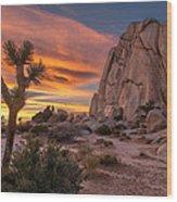 Hidden Valley Rock - Joshua Tree Wood Print