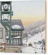 Hidden Valley Ski Resort Wood Print by Albert Puskaric