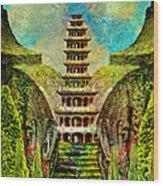 Hidden Zen Wood Print