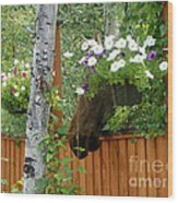 Hiding Moose Wood Print