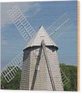 Higgins Farm Windmill Wood Print