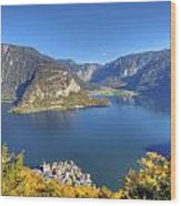 High Above Halstatt Wood Print