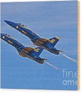 High Alpha- Blue Angels Wood Print
