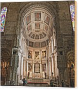 High Altar In Church Of Jeronimos Monastery Wood Print