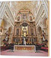 High Altar Of Cordoba Cathedral Wood Print