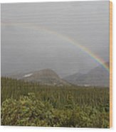 High Altitude Rainbow Landscape Wood Print